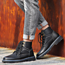 British mid top winter cotton shoes Martin boots