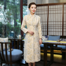 New style and improved Vintage jacquard cheongsam of XiuGuan Tang Jinyu