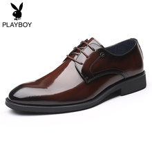 Playboy men's shoes new business leather shoes men's Korean Trend genuine leather customized formal wedding shoes
