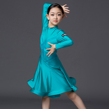 Royal Latin dance dress competition requires girls to wear Latin dance dress and children's professional performance clothing 9163