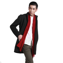 Original crepe linen scarf art breathable long scarf for men and women tea man Zen Shawl Scarf