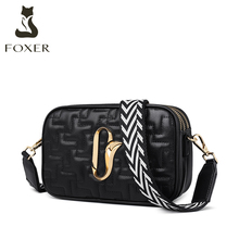 Golden Fox autumn wide shoulder strap CK small bag women's new 2019 fashion all-around one shoulder messenger small square camera bag