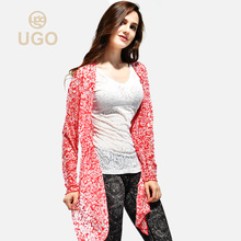 Ugo Yoga suit patchwork shawl women's fitness suit summer skin friendly breathable Yoga coat Sports Top