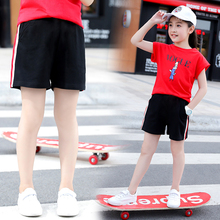 Girls' shorts 2019 new hot pants children's wear pants black children's Capris summer thin Sweatpants