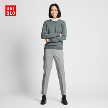 Women's Ezy cropped trousers suede 420346 UNIQLO