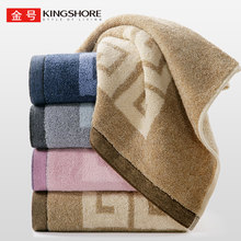 Gold cotton towel thickened, hotel towels increased, couple household washcloth raised Satin fancy yarn