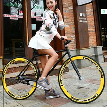 Folding car speed changing dead flying bicycle road race bicycle double disc brake handle solid tire adult student speed