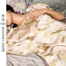 Huiyi home textile household products Chinese style women's mulberry silk printing women's home clothes silk pajamas