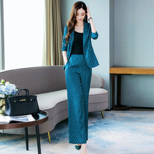 Autumn 2019 new women's fashion two piece set of professional temperament goddess style clothes Gao Leng Yu Jie suit