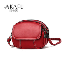 Mini bag for women 2019 new fashion retro simple and versatile small round bag with one shoulder and soft leather bag
