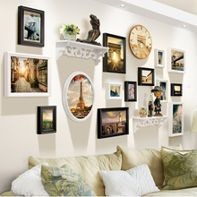 Adding color, painting European style photo wall, living room creative shelf, hanging wall, photo frame wall, combination bedroom photo frame