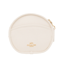 Coach / couchi new women's zipper opening and closing one shoulder messenger small round bag 48732