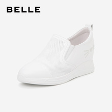 Belle mesh slope shoes women's autumn 2019 new shopping mall same cow leather casual shoes u2y1dcm9
