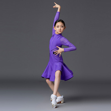 Royal Latin dance dress girl's Latin dance dress children's professional competition clothing regulations performance clothing 9168