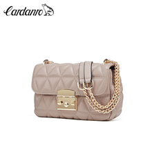 Cardan Road leather Lingge chain bag women's 2019 new autumn and winter fashion small fragrant Single Shoulder Messenger Bag Small Bag