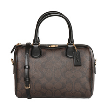 Direct sale coach coach imported Boston bag women's portable messenger PVC small bag f58312