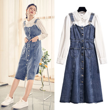 Denim strap autumn early autumn latest fashion dress