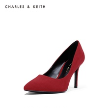 Charles & Keith pointed red bridal shoes fashion stiletto women's shoes wedding shoes ck1-60360884