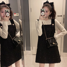 Winter bottoming with fashionable little show thin dress