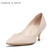 Charles & Keith spring single shoes women's ck1-60280065-2 pointed head shallow mouth celebrity thin high heels