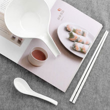 Minso / mingchuang premium melamine three piece set of household Japanese simple spoon bowl chopsticks