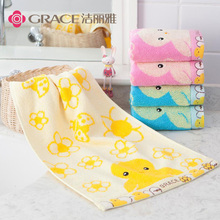 Jieliya pure cotton small towel all cotton children's face washing towel soft, comfortable and lovely five pack small towel