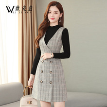 Woolen back with autumn and winter new small fragrance age reducing dress