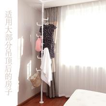 Simple clothes hanger indoor clothes hanger ceiling clothes hanger lifting balcony simple expansion single pole clothes hanger