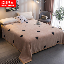 Coral Plush bed sheet single winter flannel plus Plush warm crystal milk Plush double-sided fluffy blanket bed sheet dormitory