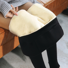 Pregnant women's pants pregnant women's Leggings autumn and winter plush and thickened cotton pants winter supporting abdomen and wearing lamb Plush winter clothes