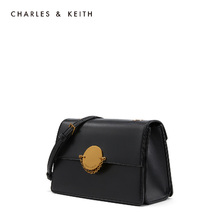 Charles & Keith small square bag ck2-80270179 metal buckle chain flip Single Shoulder Messenger Bag