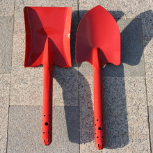 Interesting planting, gardening, gardening tools, large spades, spades, two-piece set, red paint, all iron system, firm G05
