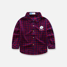 Children's Plaid Shirt Boys' and girls' long sleeve base coat baby's shirt spring and autumn style casual top