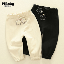 Girl's Leggings spring and autumn clothes children's 1-3-year-old girl's Korean pants baby wear solid color pants