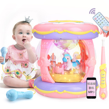 Baby clapping drum baby toy baby music clapping drum rechargeable 1-3 years old big size 6-12 months
