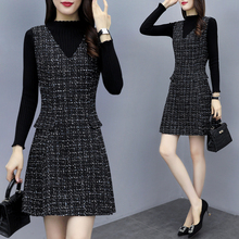Two pieces of winter skirt with fashionable bottoming