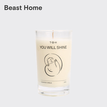 The Beast / lines black and white illustration series wax cup household fragrance candle