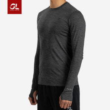 Love to burn gearlab Merino wool sports fit layer running cross-country sports thumb button long sleeve T-shirt
