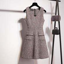 Wool vest autumn and winter small fragrant thin dress