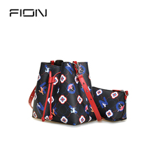 Fion / fianne bag women 2019 new cross body bucket bag simple single shoulder bag multi-functional sub mother bag