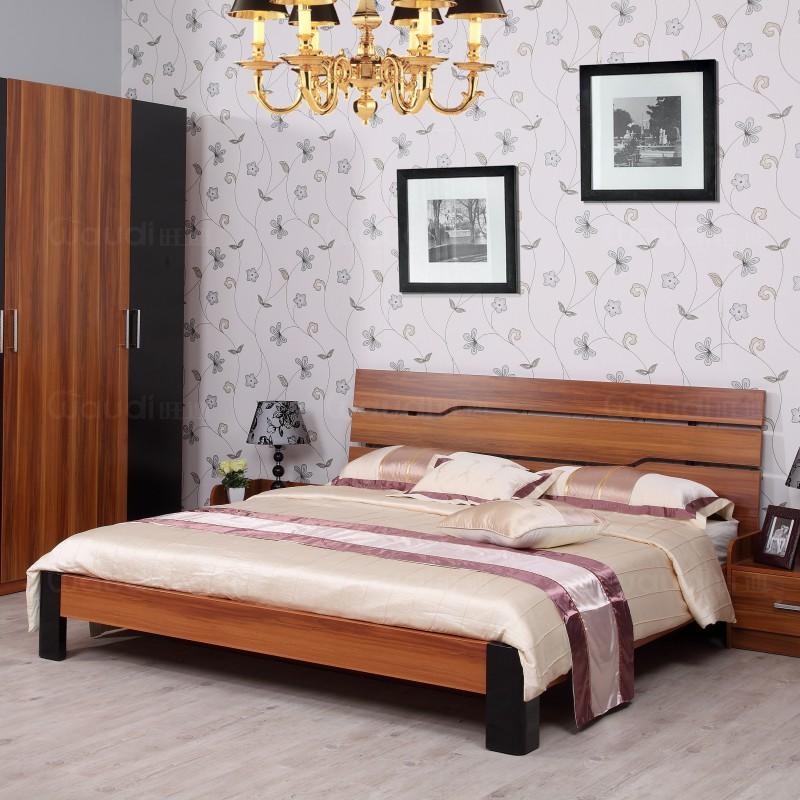 классическая кровать Ван ди ДСП лакированного дерева мебель односпальные 1. 8/1. Скидки 5 метров современный минималистский 10