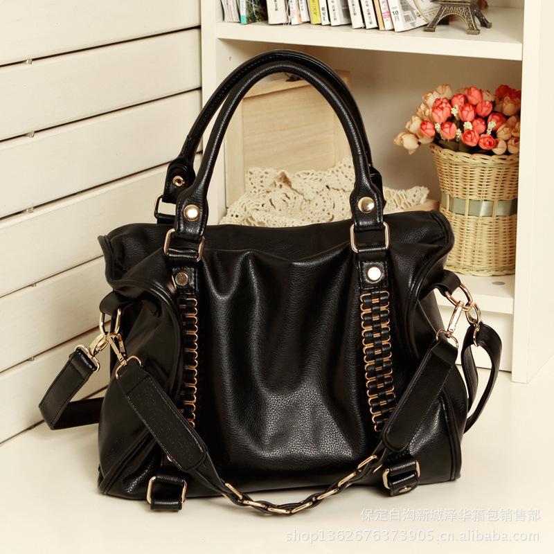 新款铆钉女包包 时尚潮流简约休闲大包包单肩包斜挎包手提软包