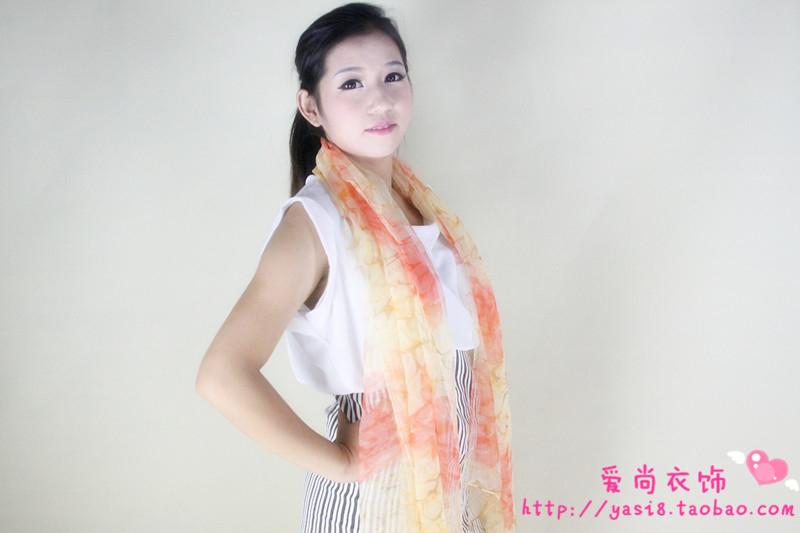 2015年春秋冬新款中老年波西米亚流苏保暖围脖女士蚕丝真丝围巾