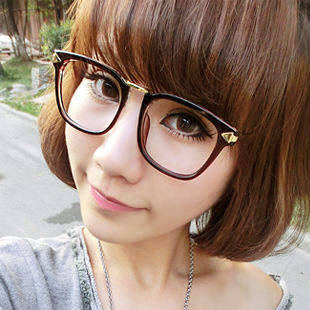 341f7c56a49 Glasses frame Women s tide Korean version of myopia big frame glasses frame  Retro black frame flat glasses Eye frame 213