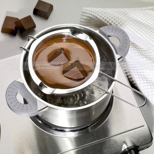 304 нержавеющей стали выпекать выпекать отопление чаша масло отопление чаша шоколад расплав из чаша 400ml LFGB проверять подлинность