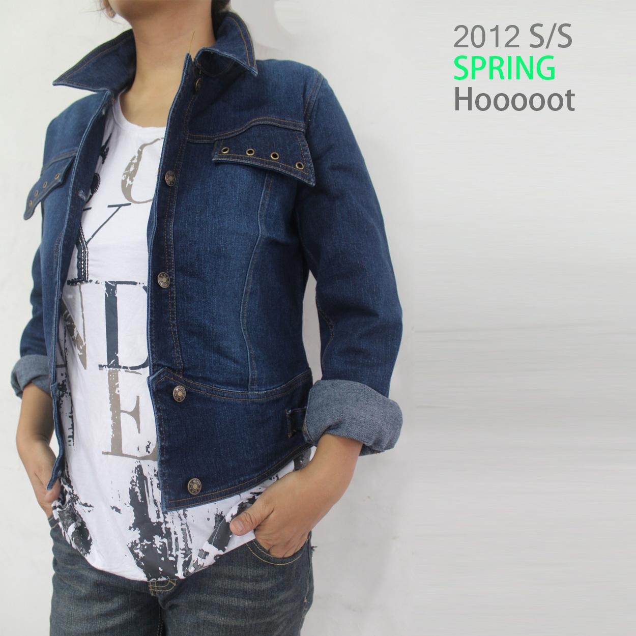 Женская одежда Большой код новых внешней торговли оригинальный сингл жира мм диких короткие джинсовые куртки топы не вернулся