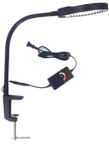电子焊接 多功能带LED可调灯台夹式放大镜维修台灯带放大镜