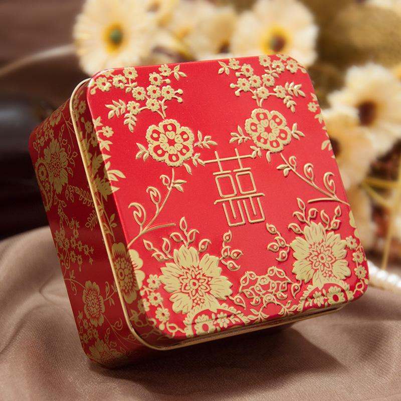 婚庆结婚订婚喜糖盒子马口铁创意圆筒帖盒欧式婚礼糖盒礼盒成品