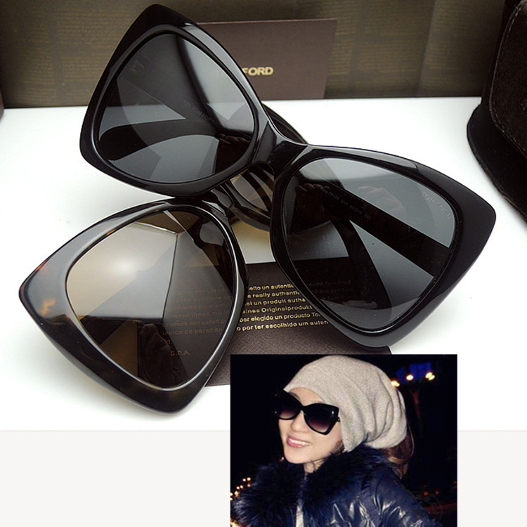 50539fd7210 Europe and the United States Tom Ford TOMFORD sunglasses female butterfly  fashion retro sunglasses TF0175 cat eye personality