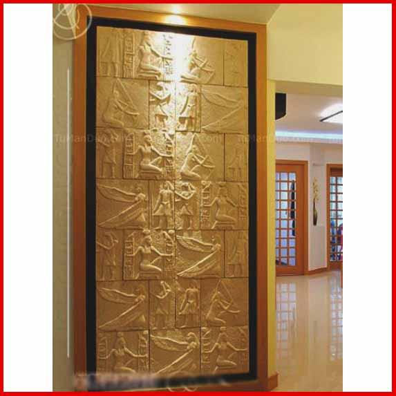 上海龙章 砂岩石背景墙砖文化石 浮雕壁画背景墙装修板材 -埃及板